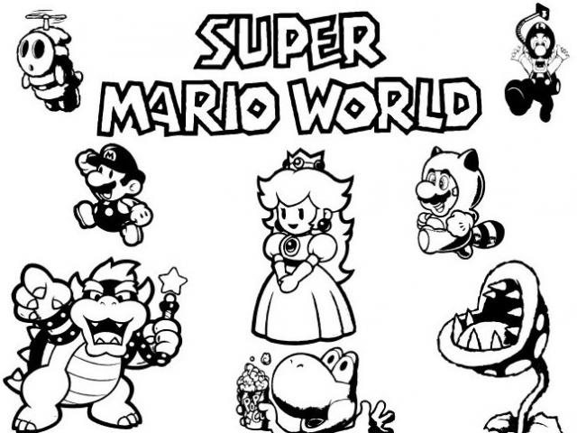 Coloriage mario - Mario bros coloriage ...