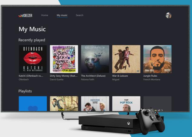 Microsoft intègre l'application de musique Deezer sur ses consoles Xbox One