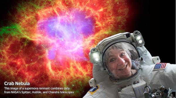 Nathalie en Selfie depuis l'espace avec la Nasa ;-)