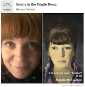 Kate Stewart retrouve un portrait de sa grand mère dans Google Art Selfie