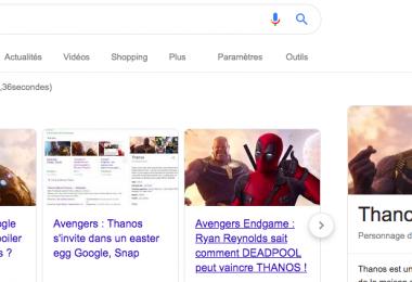 Thanos et le gant de l'Infini