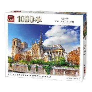 Puzzle 1000 pièces : Cathédrale Notre Dame de Paris King Puzzles 11€
