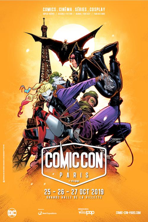 L'affiche officielle du Comic Con Paris 2019