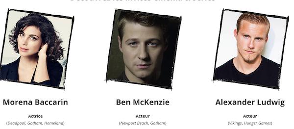 Les acteurs annoncés au Comic Con Paris 2019