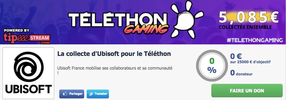 8 h de streaming live avec Ubisoft pour le Téléthon !
