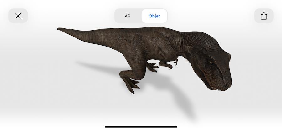 Réalité augmentée : Des dinosaures chez vous avec Google