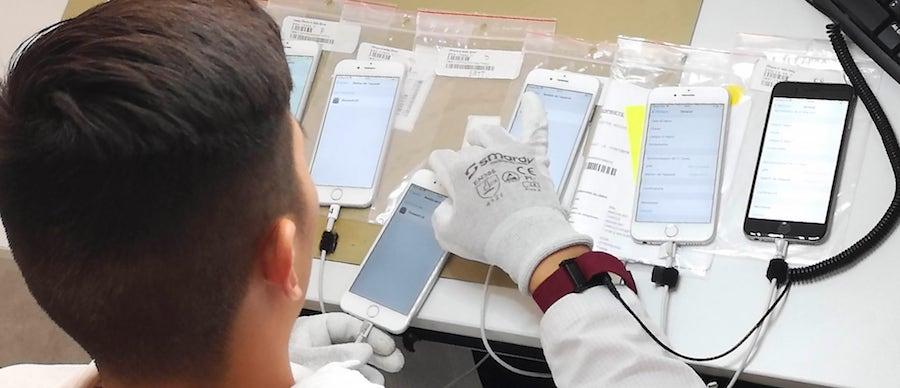 Atelier Yes-Yes en Normandie, les smartphones sont controlés en France