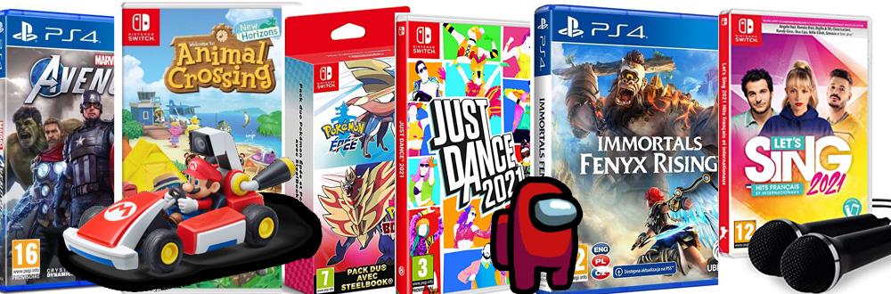 Les meilleurs jeux vidéo pour toute la famille