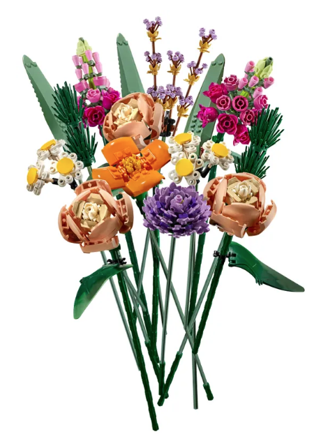 fleurs en Lego